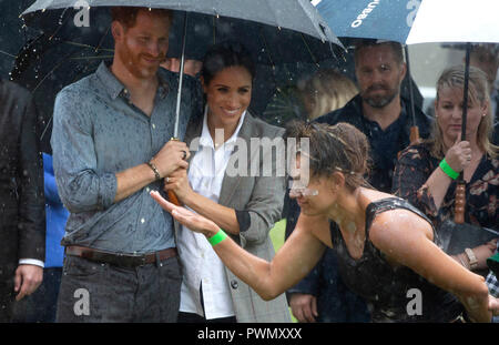 The Duke and Duchess of Sussex attend a community picnic in Victoria Park in Dubbo, New South Wales, on the second day of the royal couple's visit to Australia. - Stock Photo