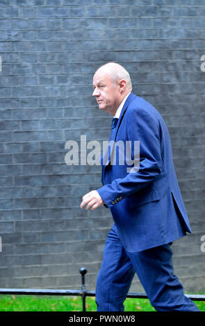 Damian Green MP, ariving towards the end of a lengthy cabinet meeting to discus Brexit, Downing Street 16th October 2018 - Stock Photo