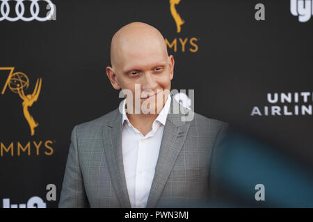The Television Academy honours Emmy-nominated Performers Reception at Wallis Annenberg Center for the Performing Arts in Beverly Hills, California.  Featuring: Anthony Carrigan Where: Beverly Hills, California, United States When: 15 Sep 2018 Credit: Tony Forte/WENN - Stock Photo