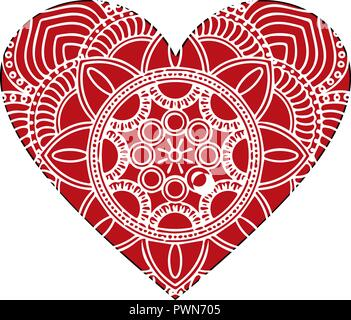 Ornate vector heart in Victorian style. Elegant element for logo design. Lace floral illustration for wedding invitations, greeting cards. Vintage pink decor in shape of heart. - Stock Photo