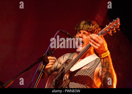 Oh Sees (Thee Oh Sees) John Dwyer - 12th July 2018 - Boiler Shop Newcastle - Live concert performance - Stock Photo