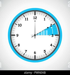 switch to winter time concept for daylight saving vector illustration EPS10 - Stock Photo
