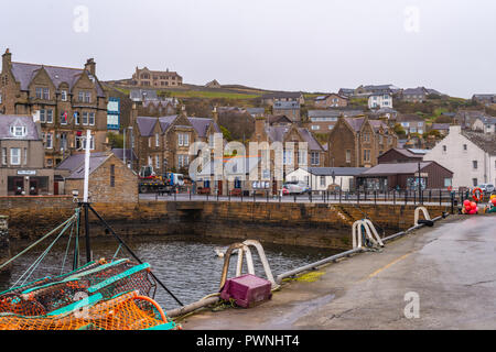 Harbour side of Stromness ,Mainland ,Orkney Islands, Scotland - Stock Photo