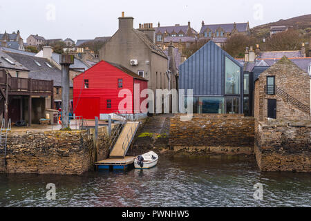 seafront of Stromness ,Mainland ,Orkney Islands, Scotland - Stock Photo