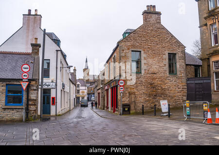 Victoria street in Stromness ,Mainland ,Orkney Islands, Scotland - Stock Photo