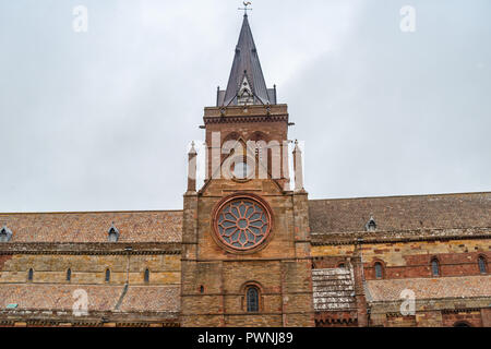 Norman St Magnus Cathedral, Kirkwall, Orkney Islands, Scotland, United Kingdom - Stock Photo