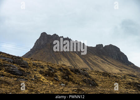 Sgorr Tuath, Loch Lurgainn, Ross shire, Scotland, Uk - Stock Photo