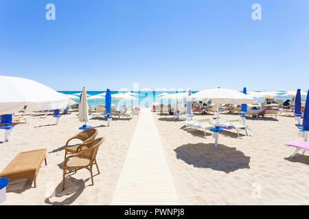 Lido Venere, Apulia, Italy - Runway to the beautiful beach of Spiaggia di Posto Vecchio - Stock Photo