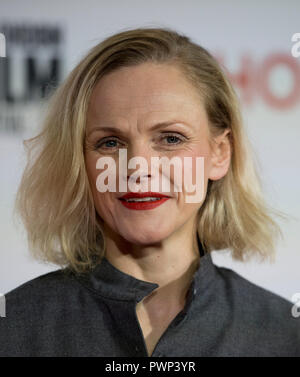 Manchester, UK. 17th October 2018. Actress Maxine Peake who plays the character Nellie arrives at the BFI London Film Festival premiere of Peterloo, at the Home complex in Manchester. Credit: Russell Hart/Alamy Live News - Stock Photo