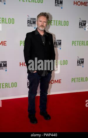 Manchester, UK. 17th October 2018. Actor Pearce Quigley who plays the character Joshua arrives at the BFI London Film Festival premiere of Peterloo, at the Home complex in Manchester. Credit: Russell Hart/Alamy Live News - Stock Photo