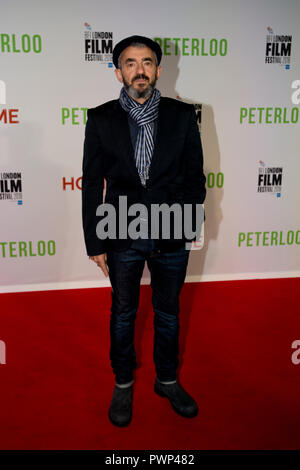 Manchester, UK. 17th October 2018. Daniel Battsek, Head of Film 4, arrives at the BFI London Film Festival premiere of Peterloo, at the Home complex in Manchester. Credit: Russell Hart/Alamy Live News - Stock Photo