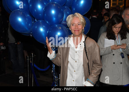 London, UK. 17th Oct, 2018. Emma Thompson attend the Company - Opening Night at Gielgud Theatre, London, UK. 17 October 2018. Credit: Picture Capital/Alamy Live News Stock Photo