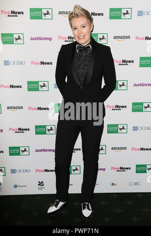London, UK. 17th October, 2018. attends the Pink News Awards 2018 held at Church House, London. Credit: Oliver Dixon/Alamy Live News Stock Photo