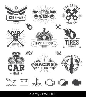 Car service Labels, Emblems and Logos template for your logo design - Stock Photo