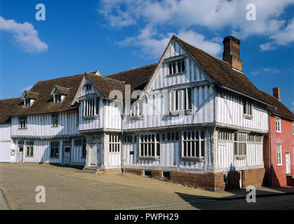 The Guildhall 16th century timber-framed building, Lavenham, Suffolk, England, United Kingdom, Europe - Stock Photo