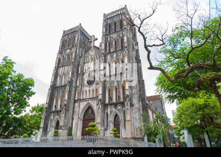 St Joseph's Cathedral is a old church Its a late 19th-century Gothic Revival Neo-Gothic style church. - Stock Photo