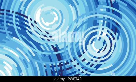 Waves from the rain, water drop, Vector flat illustration template for your design - Stock Photo