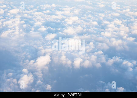 abstract blue sky and clouds background - Stock Photo