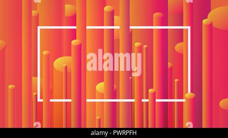 Abstract image background with geometric elements, vector cylinder pattern - Stock Photo
