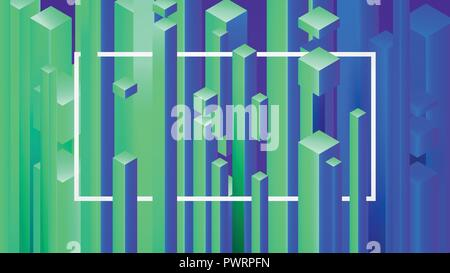 Abstract image background with geometric elements, vector rectangles pattern template for your design - Stock Photo