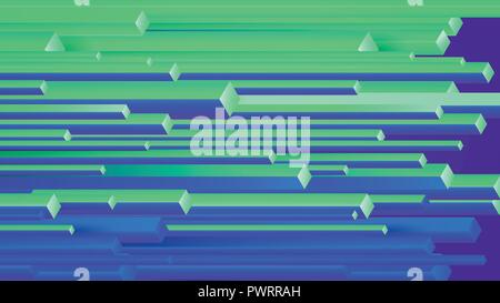 Vector abstract background with geometric elements, rectangles horizontal motion template for your design - Stock Photo