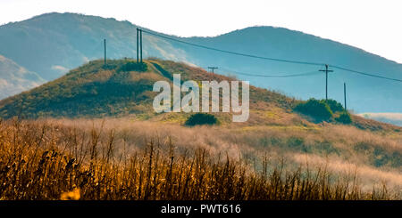 Hiking trail on the hill in San Clemente CA - Stock Photo
