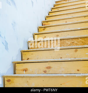 Interior stairs of a house under construction - Stock Photo