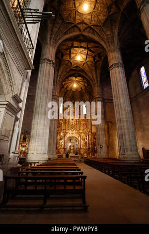 An image captured using the natural light within the stunningly beautiful church of Santo Tomas in Haro, Spain - Stock Photo