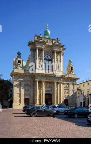 Warsaw, Poland - Oct 6, 2018: Church of St. Joseph of the Visitationists commonly known as the Visitationist Church is a Roman Catholic church in Wars - Stock Photo