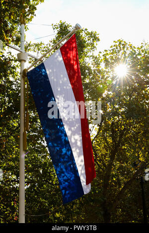 The Mall, London, UK 18 Oct 2018 - The Mall decorated with Union Jack and flags of the Netherlands for the state visit by The King and Queen of The Netherlands to the United Kingdom from 23rd to 24th October 2018.  Credit: Dinendra Haria/Alamy Live News - Stock Photo