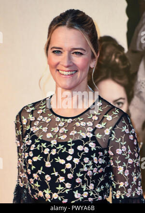 Edith Bowman attends the UK Premiere of 'The Favourite' & American Express Gala at the 62nd BFI London Film Festival. - Stock Photo