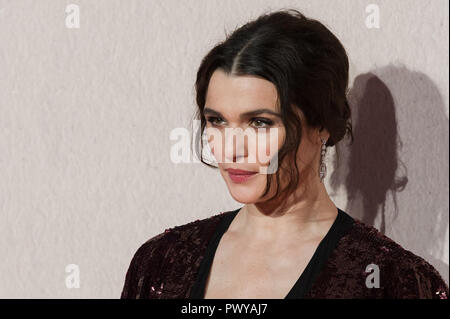 LONDON, UNITED KINGDOM - OCTOBER 18:  Rachel Weisz attends the UK film premiere of 'The Favourite' at BFI Southbank during the 62nd London Film Festival American Express Gala. October 18, 2018 in London, United Kingdom. - Stock Photo