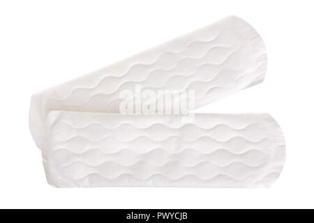 Woman hygienic every day panty liners isolated on white background. Top view. - Stock Photo
