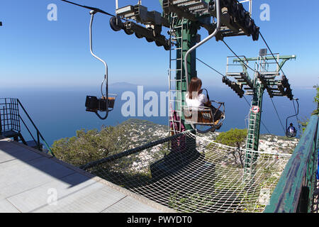 top of capri chairlift - Stock Photo