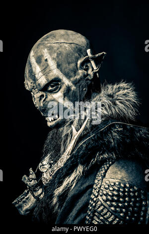 Portrait of an Orc - Stock Photo