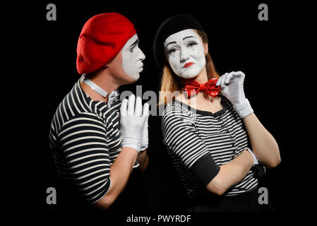 Male and female mime - Stock Photo