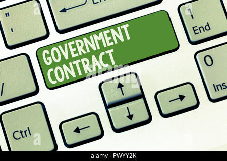 Word Writing Text Government Contract Business Concept For