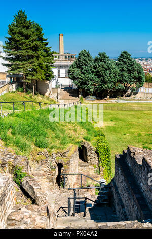 The Ancient Theatre of Fourviere - Lyon, France - Stock Photo