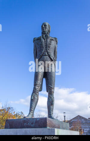 bronze statue of wolfe tone in wolfe tone square bantry west cork ireland - Stock Photo