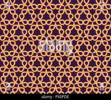 Vector seamless pattern. Modern stylish abstract texture. Repeating geometric linear tiles pattern background - Stock Photo