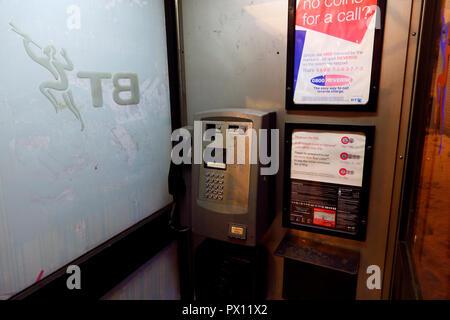 Inside a  KX BT Telephone Box - Stock Photo