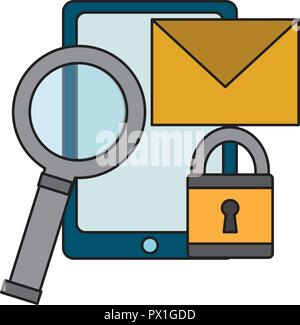 cyber security data - Stock Photo