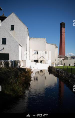Lagavulin single malt whisky distillery, in Islay, Scotland, on 14 October 2018. - Stock Photo