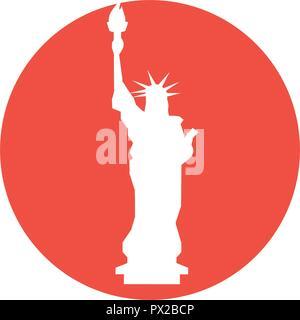 statue of liberty icon - Stock Photo