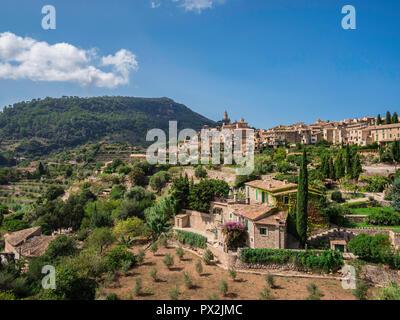 Beautiful view of Valldemossa in Mallorca Spain - Stock Photo