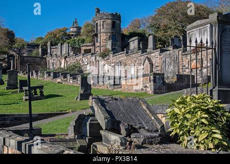 New Calton Burial Ground, Edinburgh, Scotland, UK - Stock Photo