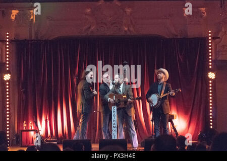 London, UK. 18th October, 2018. Chatham County Line performing live on stage at Bush Hall in London. Photo date: Thursday, October 18, 2018. Photo: Roger Garfield/Alamy Credit: Roger Garfield/Alamy Live News - Stock Photo