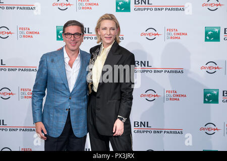 Rome, Italy. 19th Oct 2018. Cate Blanchett attending the photocall of The House with a Clock in Its Walls at Rome Film Fest Credit: Silvia Gerbino/Alamy Live News - Stock Photo