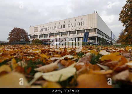 Moscow, Russia. 19th Oct, 2018. MOSCOW, RUSSIA - OCTOBER 19, 2018: Fallen autumn leaves by Moscow's Central House of Artist. Artyom Geodakyan/TASS Credit: ITAR-TASS News Agency/Alamy Live News - Stock Photo