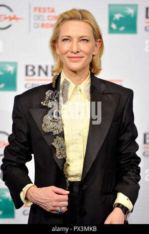 Rome, Italy. 19th Oct 2018. Cate Blanchett attends the 'The House With A Clock In Its Walls' photocall during the 13th Rome Film Fest at Auditorium Parco Della Musica on October 19, 2018 in Rome, Italy. Credit: Geisler-Fotopress GmbH/Alamy Live News - Stock Photo